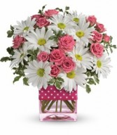 Polka Dots And Posies Valentine Arrangement
