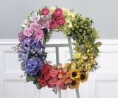 Polychromatic Wreath Funeral