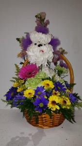 Poodle Flower besket