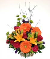 Pop O Color Basket arrangement