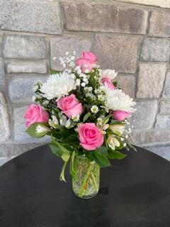 Pop of Pink Flower Arrangement