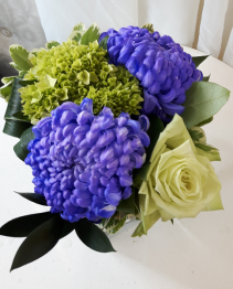 Pretty Purple and Green Table Centerpiece