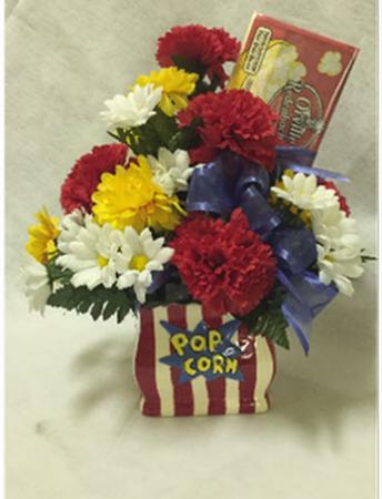 Popcorn Flower Vase Bouquet