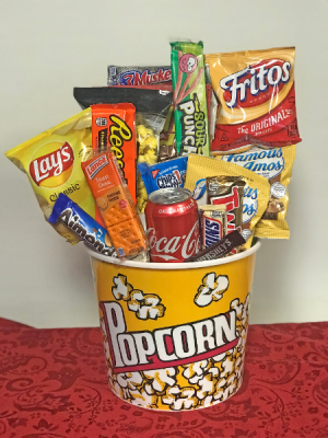 Popcorn Lovers Snack  Basket in West Monroe, LA | ALL OCCASIONS FLOWERS AND GIFTS