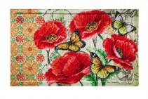 Poppies and Butterflies Indoor/Outdoor Mat