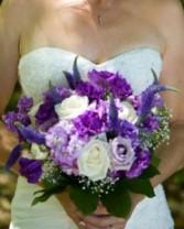 Poppin' Purple  Bridal Wedding Bouquet