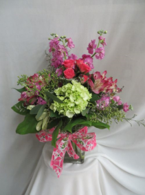 Poppin' Up Blooms Fresh Mixed Vased Arrangement