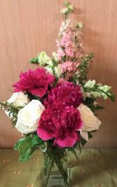 Popping Peonies Vase Arrangement