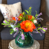 Popping Poppies Silk Floral Arrangement