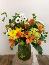 Poppy and Mint Fresh Arrangement
