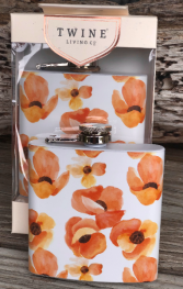 Poppy Floral Flask by Twine Living 6 oz Flask