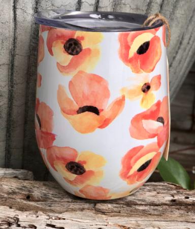 Poppy Wine Tumbler by Twine Living 10 oz Wine Tumbler