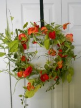 Poppy Wreath Silk Wreath