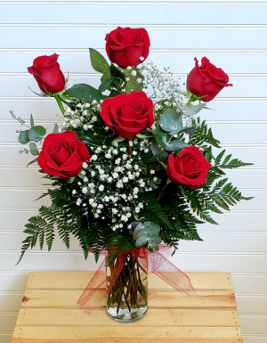 Pop's 1/2 Dz. Red Rose Bouquet Exclusively at Mom & Pops in Ventura, CA | Mom And Pop Flower Shop