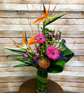 Pops Of Color Vase Arrangement