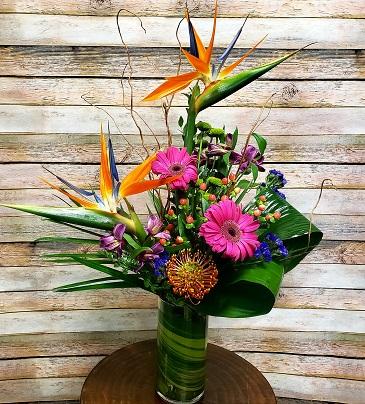 Pops Of Color Vase Arrangement