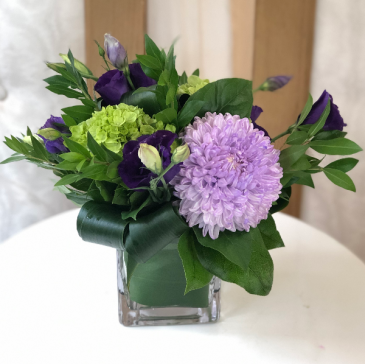 Pops of Purple Vase arrangement