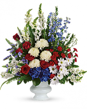 POP'S PATRIOTIC  RED WHITE & BLUE in Oxnard, CA | Mom and Pop Flower Shop