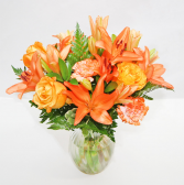 POPULAR PEACH FLORAL Medium sized