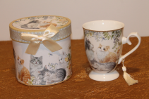 Porcelain Gift Boxed Tea Cup - Cats