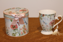 Porcelain Gift Boxed Tea Cup - Dragonfly