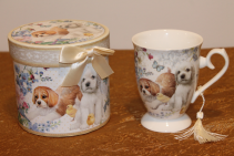 Porcelain Gift Boxed Tea Cup - Puppies