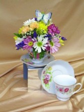 Porcelain Teacup Keepsake ~ Margot's Local Delivery