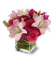 Posh Pinks Arrangement  all around arrangement
