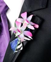 POSH PURPLE ORCHIDS Prom Boutonniere