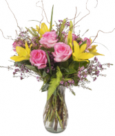 Posh Spring Design Fresh Vase Arrangement