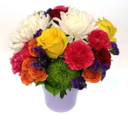 Pot O' Petals arrangement