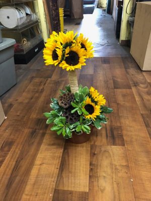 Pot O' Sunflowers Topiary in Tampa, FL | Island Flowers