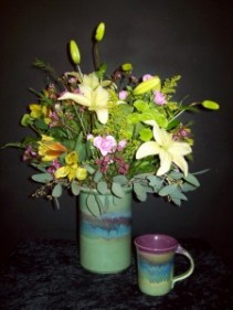 Pottery Bouquet Fresh Flower Arrangement