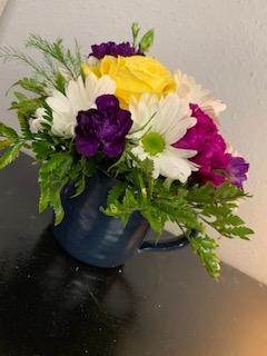 Pottery Cup Arrangment  in Tishomingo, OK | Sara's Heartfelt Flowers & Gifts