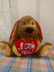 "Pound Puppy  ""I Dig You"" Plush"