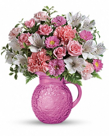 Pour On Pink All-Around Floral Arrangement