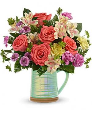 Pour on the Beauty  Flower Arrangement in Riverside, CA | Willow Branch Florist of Riverside