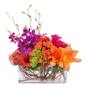 Powerfully Prismatic Arrangement in Burnt Hills, NY   THE COUNTRY FLORIST