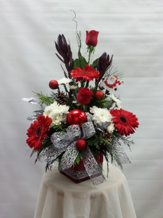 PP Christmas Cube Cube Vase