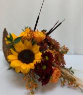 PPCFG Cornucopia with Sunflowers Fresh Arrangement
