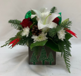PPCFG Winter Tree Arrangment with Lilies Fresh Arrangement