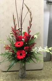 Prancer and Vixen Vase Arrangement