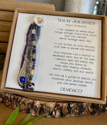 Prayer Heart Bracelet Indigo  Gifts