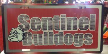 Sentinel bulldog tag Bulldog gift