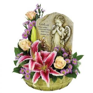 PRAYING ANGEL BASKET  in Arlington, TX | Pantego Florist & Gifts