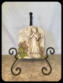 PRAYING ANGEL GARDEN STONE