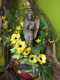 Praying Angel Silk Basket