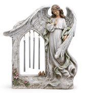 Praying angel with chimes sympathy