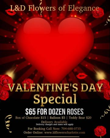 Valentine's Day Special One Dozen Roses, 2 Balloons, Chocolate & Teddy Bear