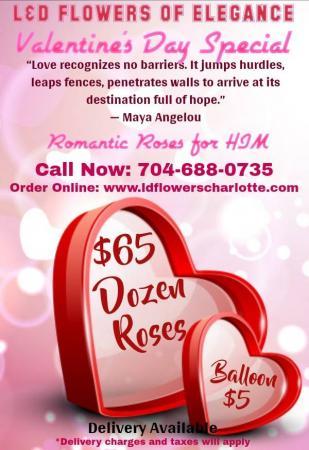 Valentine's Day Special One Dozen Roses w/One Balloon